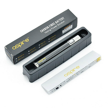 BATTERY - ASPIRE CF VV+ ( Carbon Fiber / Variable Voltage ) 1000mA - 100% Authentic - ( Black )