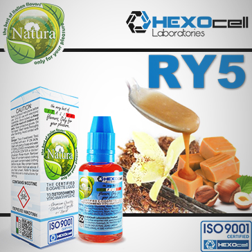 30ml RY5 9mg eLiquid (With Nicotine, Medium) - Natura eLiquid by HEXOcell