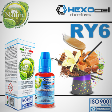 30ml RY6 0mg eLiquid (Without Nicotine) - Natura eLiquid by HEXOcell
