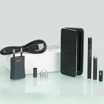 KIT - JOYETECH eRoll-C Automatic / No Button Electronic Cigarette ( Black ) - 100% Authentic