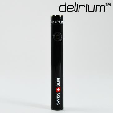 BATTERY - delirium Swiss & Slim 400mAh High Quality Battery ( Metallic Black )