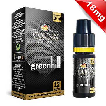 10ml GREENHILL 18mg eLiquid (With Nicotine, Strong) - eLiquid by Colins's
