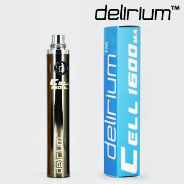 BATTERY - DELIRIUM CELL 1600mA eGo/eVod Top Quality ( Gun Metal )