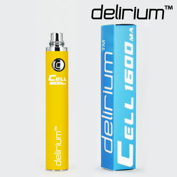 BATTERY - DELIRIUM CELL 1600mA eGo/eVod Top Quality ( Yellow )