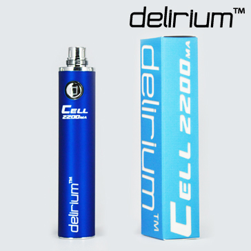 BATTERY - DELIRIUM CELL 2200mA eGo/eVod Top Quality ( Blue )