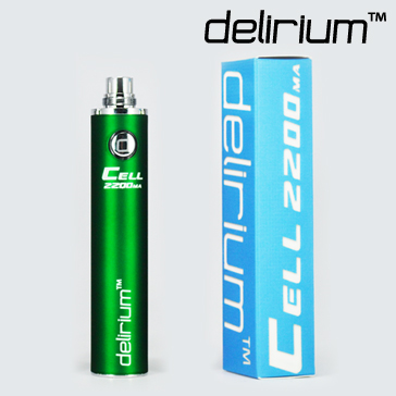 BATTERY - DELIRIUM CELL 2200mA eGo/eVod Top Quality ( Green )