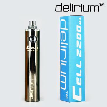 BATTERY - DELIRIUM CELL 2200mA eGo/eVod Top Quality ( Gun Metal )