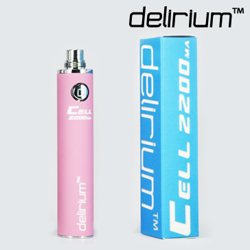 BATTERY - DELIRIUM CELL 2200mA eGo/eVod Top Quality ( Pink )