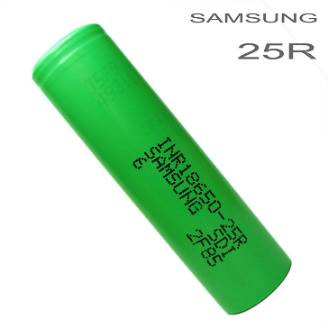 BATTERY - SAMSUNG INR 25R 18650 2600mAh Rechargeable Flat Top Battery