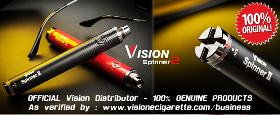 original vision spinner ii 2 battery 1650mA