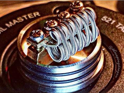 electronic cigarette coil build