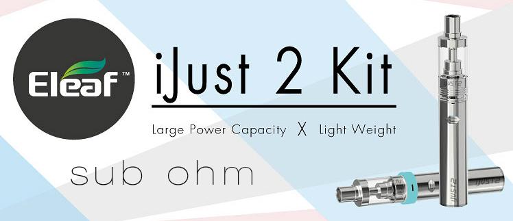 KIT - Eleaf iJust 2 Sub Ohm Kit ( Stainless )