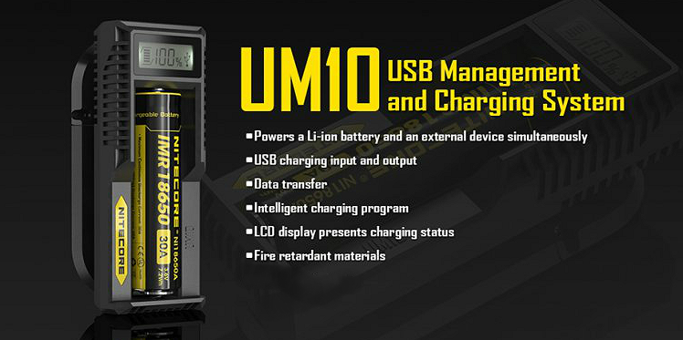 CHARGER - Nitecore UM10 External Battery Charger