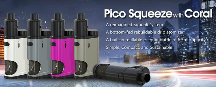 KIT - Eleaf Pico Squeeze Squonk Mod Full Kit ( Grey )