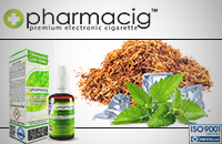 30ml TOBACCO & MINT 18mg eLiquid (With Nicotine, Strong) - eLiquid by Pharmacig image 1