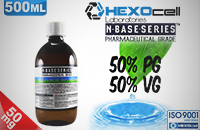 D.I.Y. - 500ml HEXOcell eLiquid Base (50% PG, 50% VG, 50mg/ml Nicotine) image 1
