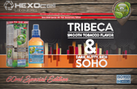 60ml TRIBECA & SOHO SPECIAL EDITION 9mg High VG eLiquid (With Nicotine, Medium) - Natura eLiquid by HEXOcell image 1
