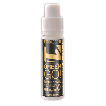 15ml GREEN GO / BLACK TOBACCO 0mg eLiquid (Without Nicotine) - eLiquid by Pink Fury