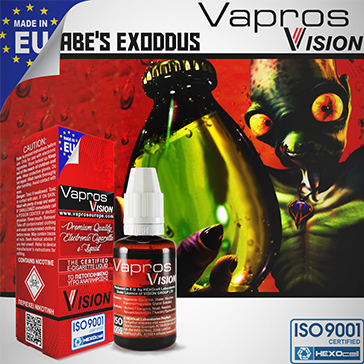 30ml ABE'S EXODDUS 18mg eLiquid (With Nicotine, Strong) - eLiquid by Vapros/Vision