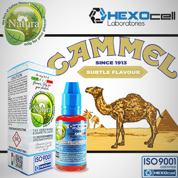 30ml CAMMEL 9mg eLiquid (With Nicotine, Medium) - Natura eLiquid by HEXOcell