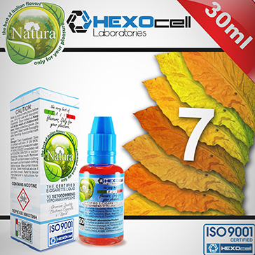 30ml 7 FOGLIE 3mg eLiquid (With Nicotine, Very Low) - Natura eLiquid by HEXOcell