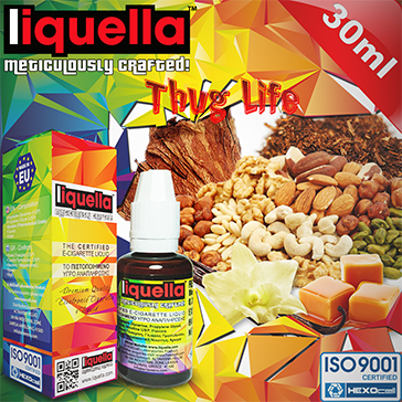 30ml THUG LIFE 3mg eLiquid (With Nicotine, Very Low) - Liquella eLiquid by HEXOcell