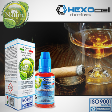30ml CIGAR PASSION 18mg eLiquid (With Nicotine, Strong) - Natura eLiquid by HEXOcell