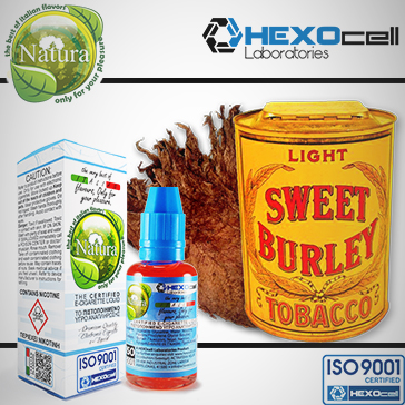 30ml BURLEY 0mg eLiquid (Without Nicotine) - Natura eLiquid by HEXOcell