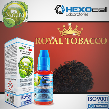 30ml ROYAL TOBACCO 18mg eLiquid (With Nicotine, Strong) - Natura eLiquid by HEXOcell