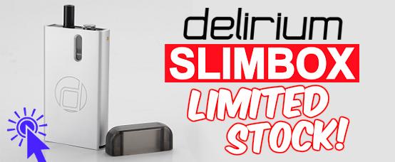 delirium, delirium ecig, delirium electronic cigarette, starter kit, swiss slim, swiss slimbox, slimbox, slim box, quit smoking